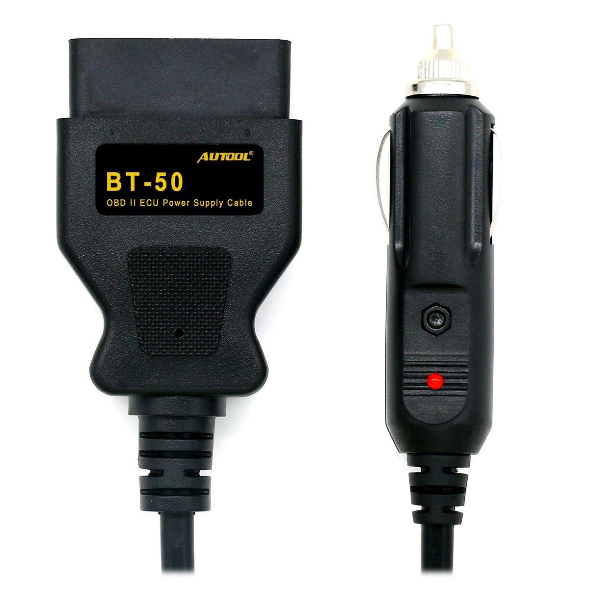 con cavo Salva Memorie da 3 metri adattatore accendisigari da auto BT50 OBDII 12 V Autool alimentatore di emergenza ECU alimentato da accendisigari