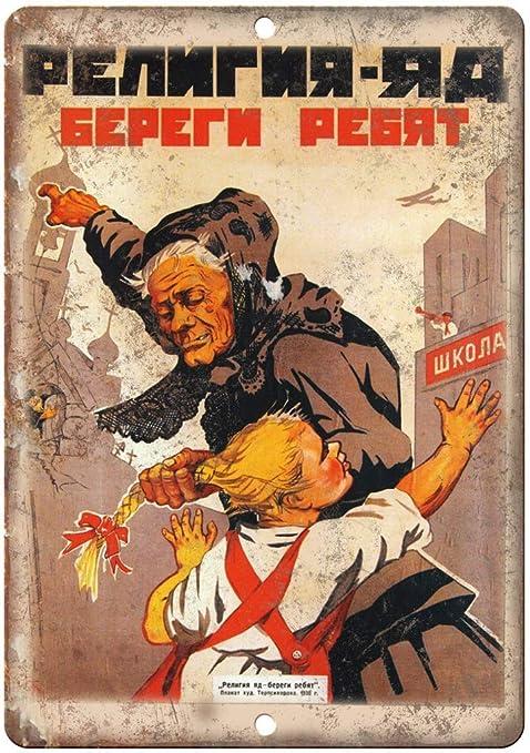 Russian Propaganda War Póster De Pared Metal Retro Placa ...