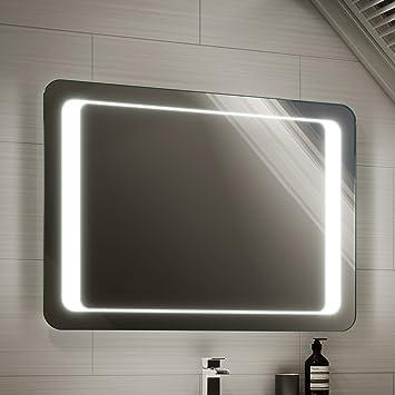 900 X 650 Mm Illuminated LED Bathroom Mirror Light With Sensor Demister ML2113
