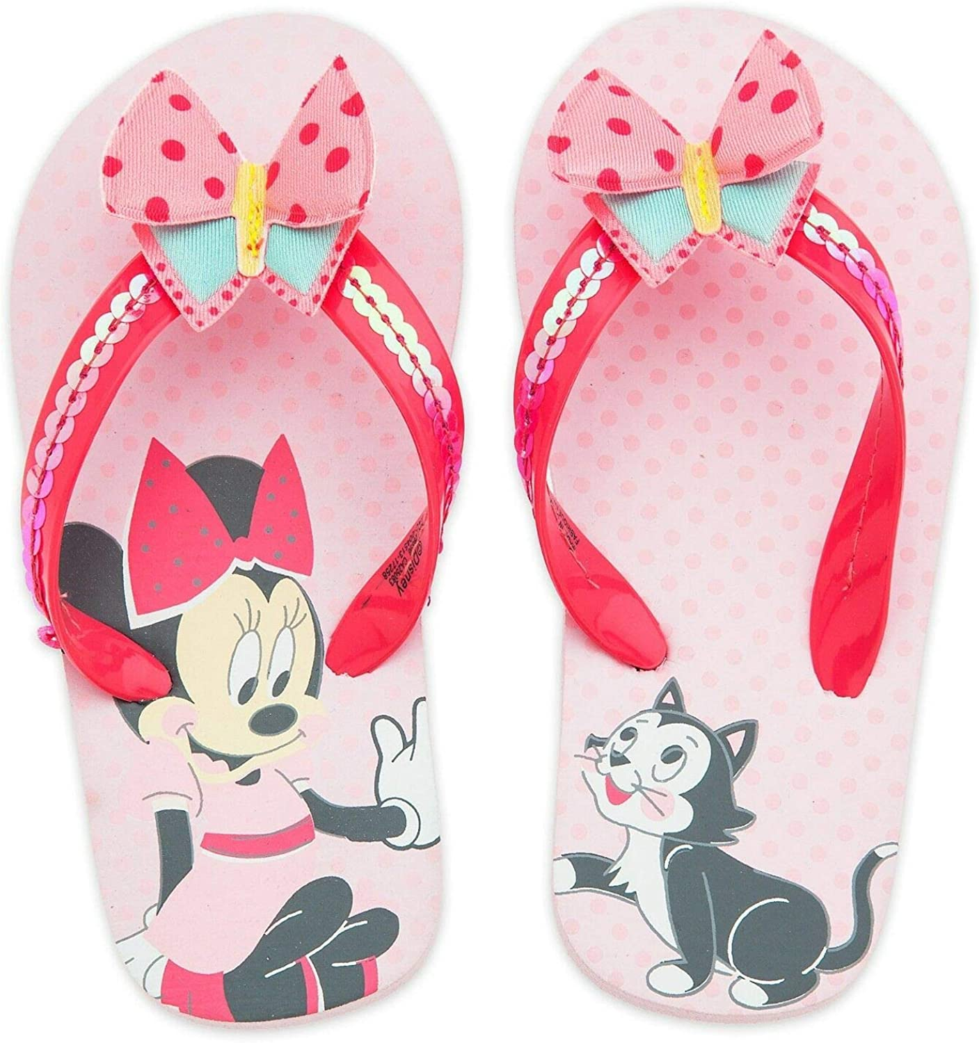 Minnie Mouse Sandals Size 9 Disney Rubber Sole with Bow