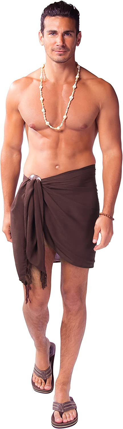 1 World Sarongs Mens Half Short Mini Sarong