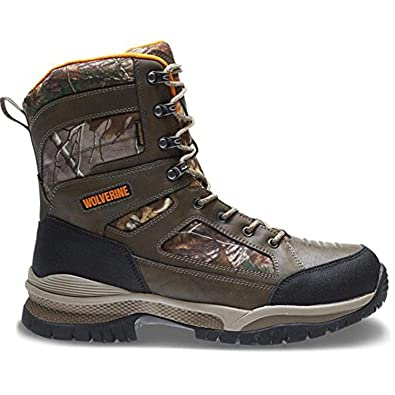 Wolverine Men's Rocket Waterproof Insulated Hunting Boot & Knit Cap Bundle