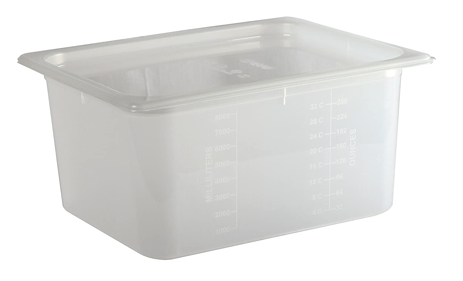 San Jamar MP12 Mod Pans 1/2 Food Pan with Lid, 51/8