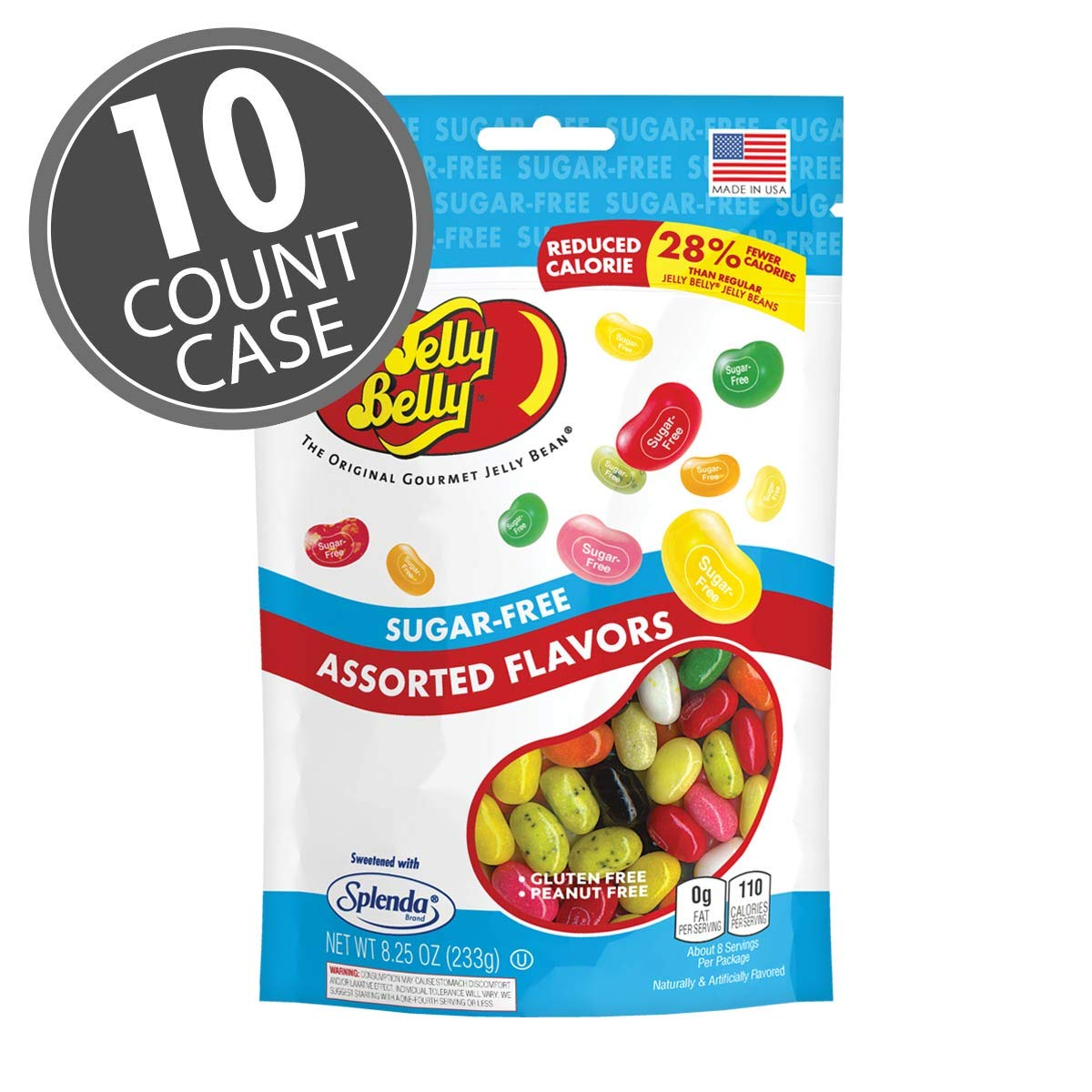 Jelly Belly Sugar Free - 8.25 oz, 10 Count Case - Official, Genuine, Straight from the Source by Jelly Belly