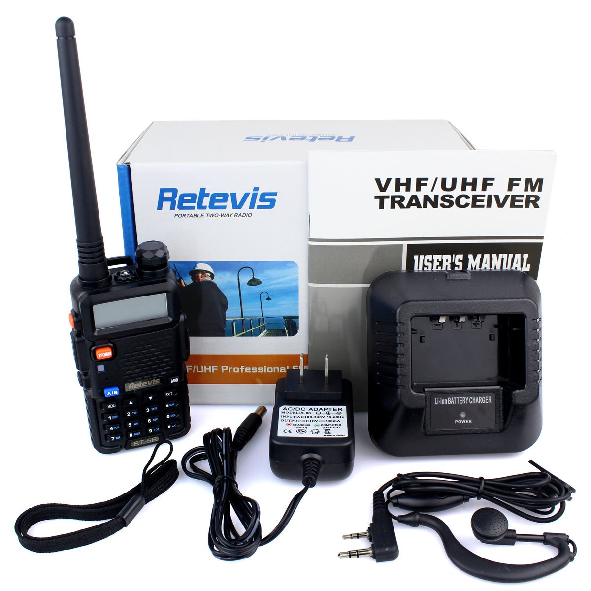 Retevis RT-5R 2 Way Radio 5W 128CH UHF/VHF 400-520MHz/136-174MHZ Walkie Talkies (6 Pack) and Programming Cable by Retevis (Image #9)