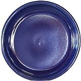 Keramik Untersetzer für Blumen-Topf rund frost-sicher Vogeltränke wasser-dicht Ø 35 x 5 cm Stellfläche 28 cm Form 099.035.64 Effekt-Blau