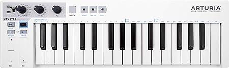 front facing arturia keystep beginner midi keyboard