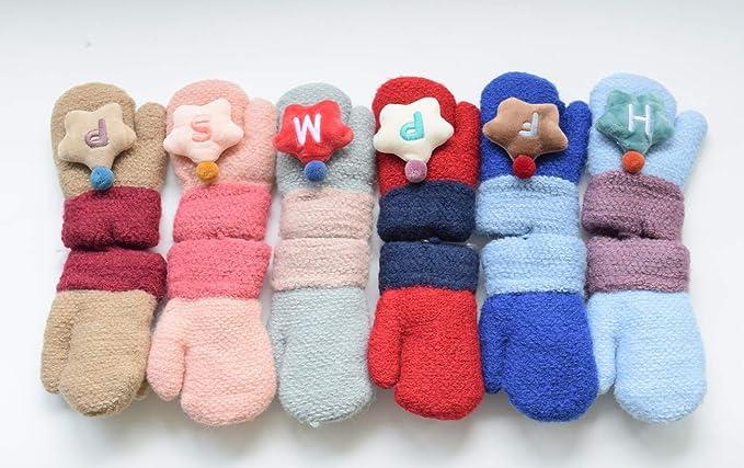 Hikfly Mignon Knit Moufles Mitaines Gants pour Bébé Filles Garçons Warmer  Mittens Cadeau De Noël(1-3 ans) (Étoile, Bleu)  Amazon.fr  Vêtements et ... d29486e6d9c