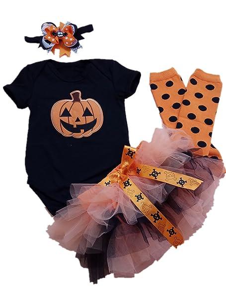 38ae4ad42 Amazon.com: AISHIONY Baby Girls' 1st Halloween Costume Tutu Outfit Newborn  Party Dress 4PCs: Clothing