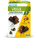 Vega Protein Bars Variety Pack, Crispy Mint Chocolate + Chocolate Peanut Butter Flavours, 35g, 16 Count, Vegan Protein…