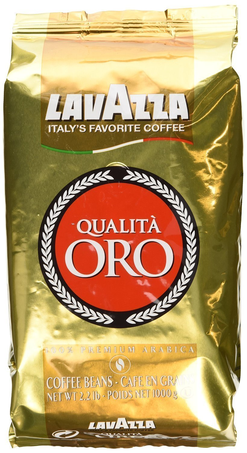 Lavazza Qualita Oro Italian Coffee Whole Beans 2.2 Pound - Pack of 2 by Lavazza