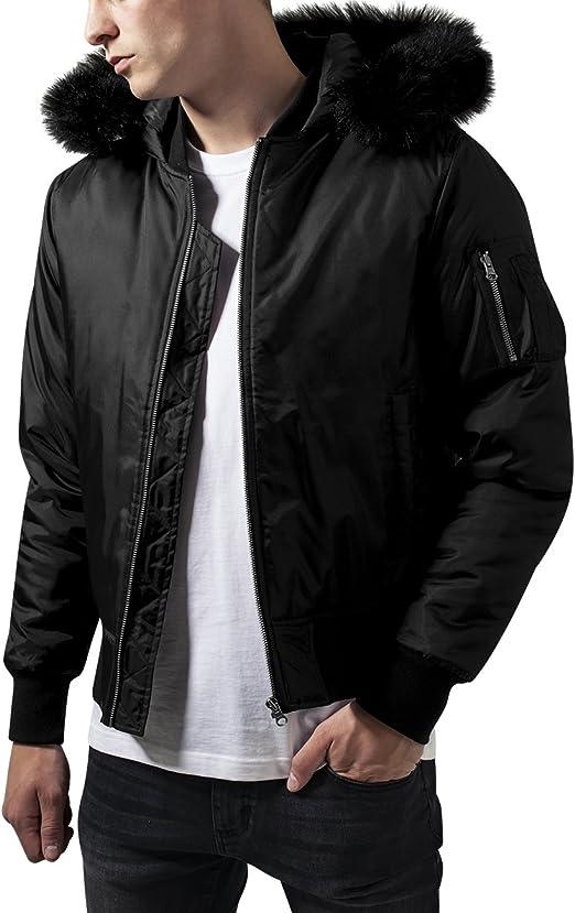 TALLA L. Urban Classics Hooded Basic Bomber Jacket Chaqueta para Hombre