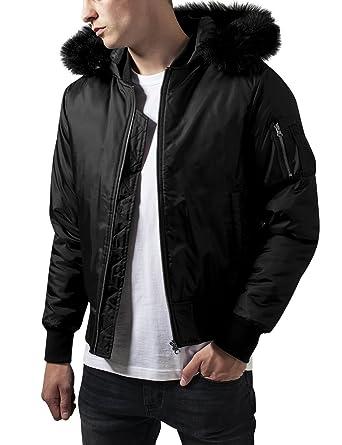 Hooded Basic Bomber Jacket Urban Classics Streetwear Giacca Uomo at ... 85ebe5e0ffc