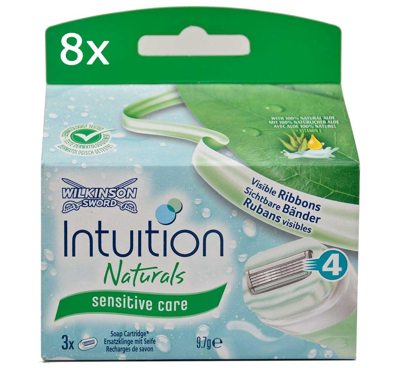 8x Wilkinson Intuition Naturals Sensitive Care 3Razor Blades with Soap and Aloe Wilkinson Sword