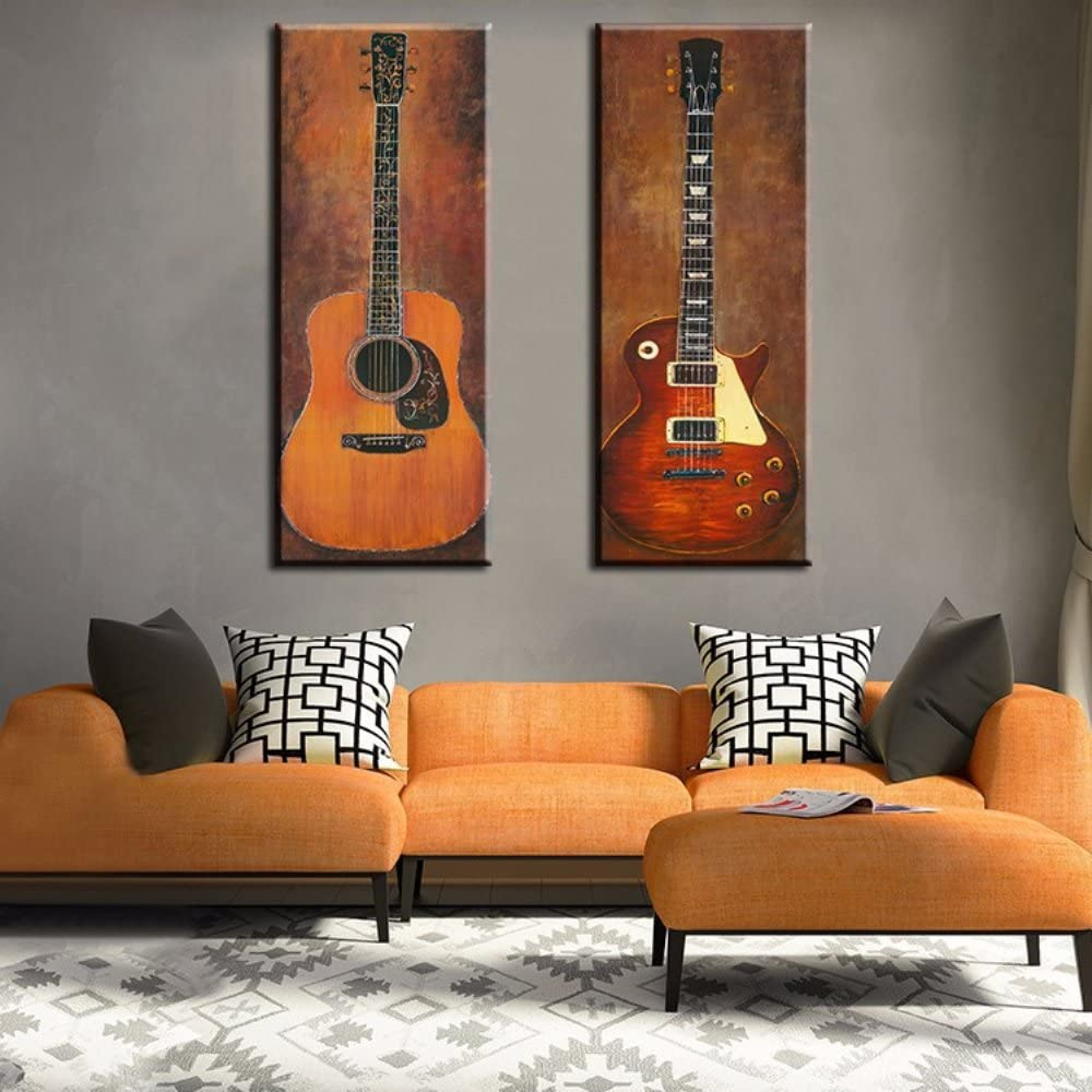 Amazon Com Guitar Photo Wall Decoration Music Art Image Printed On Canvas Stretched And Framed Ready To Hang For Living Room Bedroom Home Decoration Posters Prints
