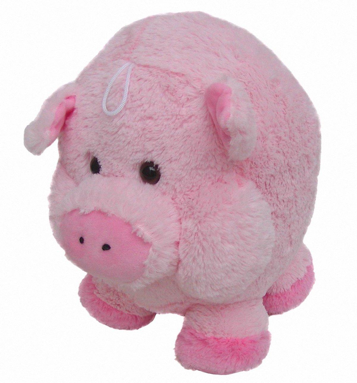/Ø ca Chamier Lammfellprodukte s/ü/ßes superweiches Stofftier Kuscheltier Kugel Schwein aus Mikrofaser rosa voll waschbar bei 30 Grad 35 cm