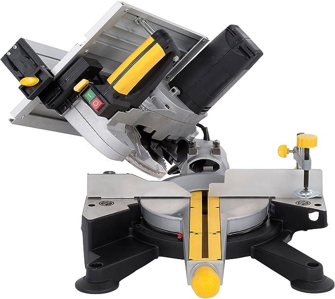 POWERPLUS POWX07582 Sierra ingletadora con mesa superior, 1800 W ...