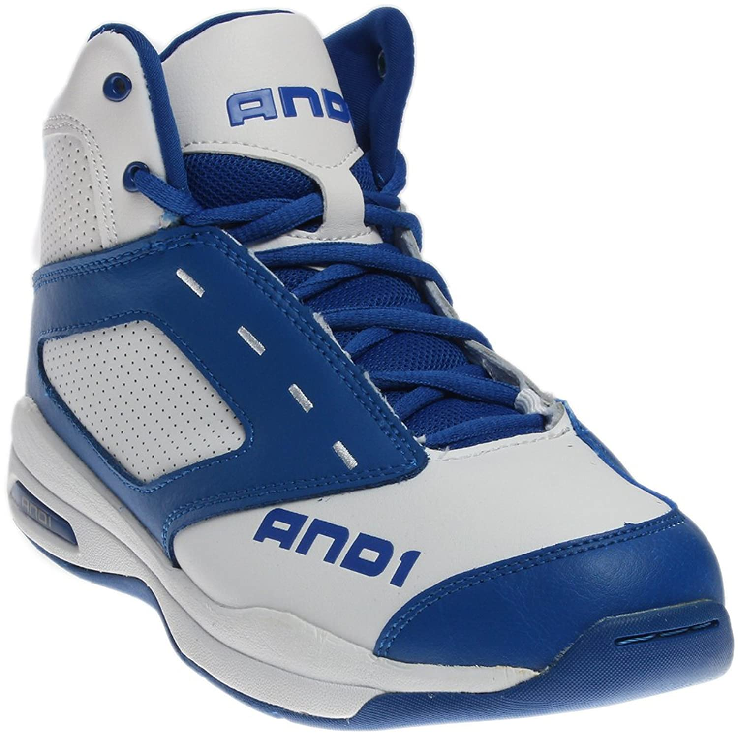 And 1 Typhoon D1090MWMW White Blue White Athletic Basketball Shoes B0125HD0NY Parent
