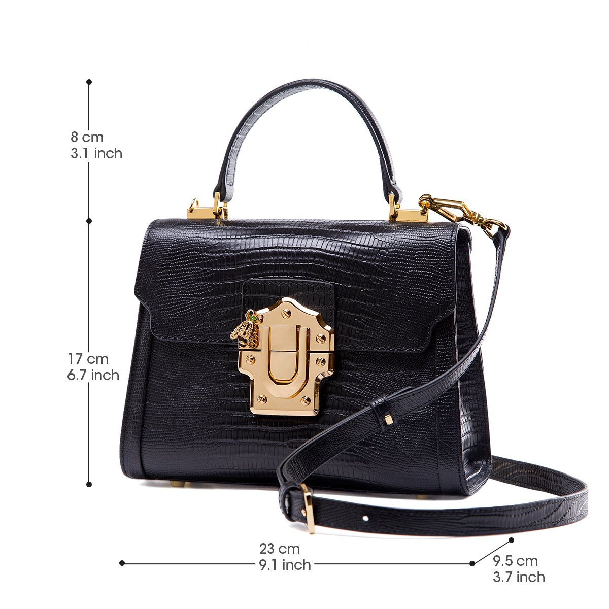 c9812f606e30 Amazon.com  LA FESTIN Ladies Crossbody Handbags Lizard Pattern Leather  Shoulder Tote Purse Mini  Shoes