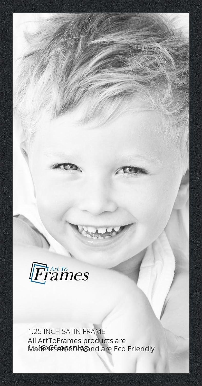 amazoncom arttoframes 18x36 inch satin black picture frame womfrbw26079 18x36 single frames