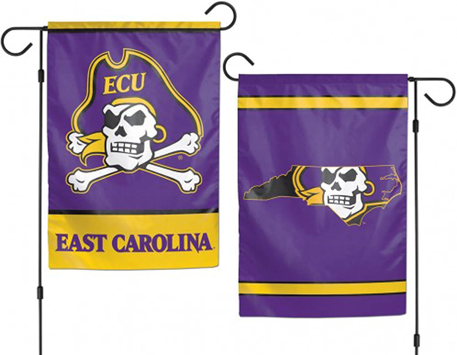 NCAA East Carolina Pirates Flag12x18 Garden Style 2 Sided Flag, Team Colors, One Size