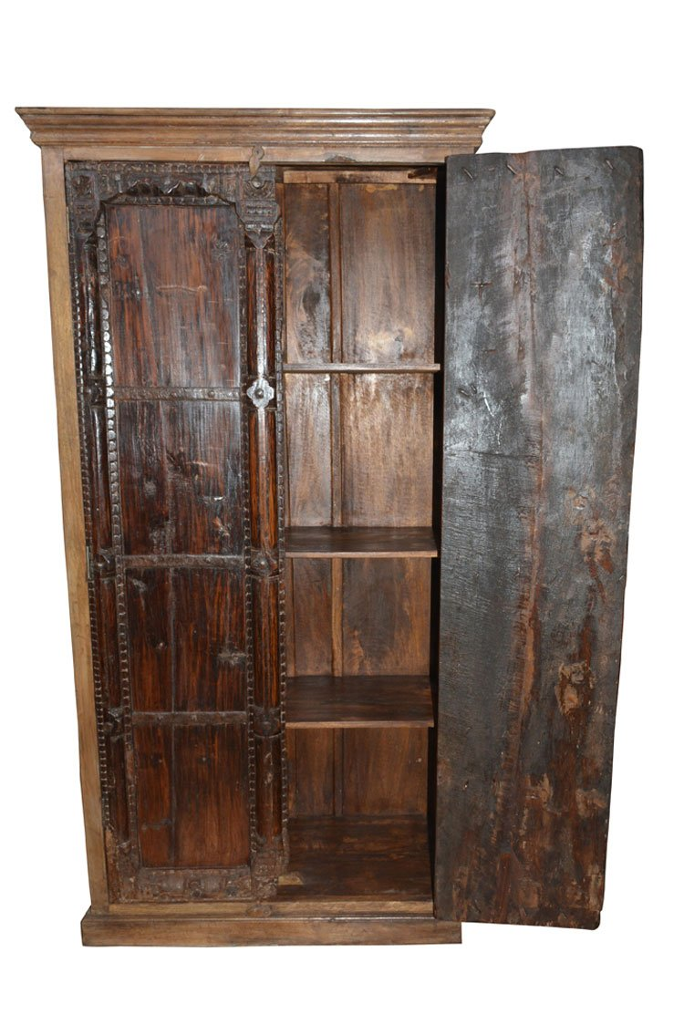 Armoire Storage Warbdrobe Reclaimed Antique Vintage Patina Indian Furniture Spanish Moroccan Design Interiors by Mogul Interior (Image #2)