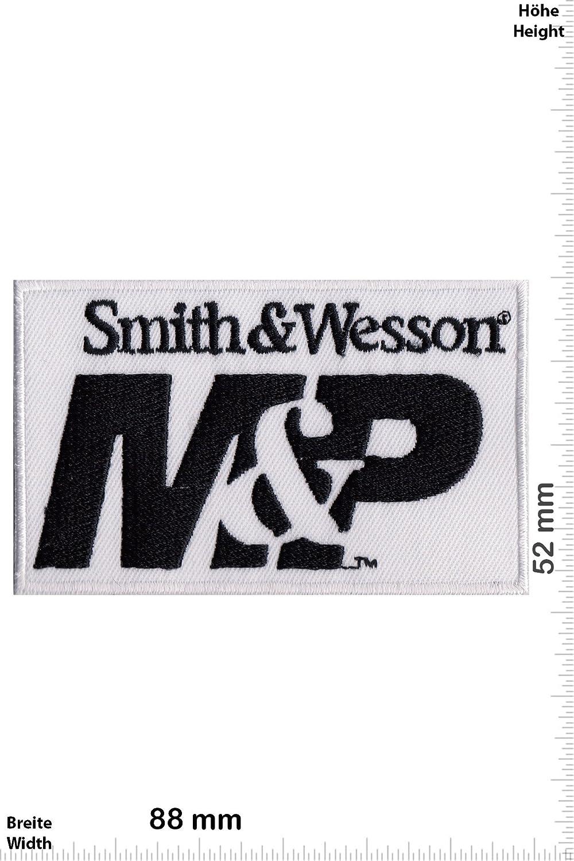 Weiss Waffen M/&P Smith /& Wesson Aufn/äher Waffen Patch Iron On zum aufb/ügeln Smith /& Wesson