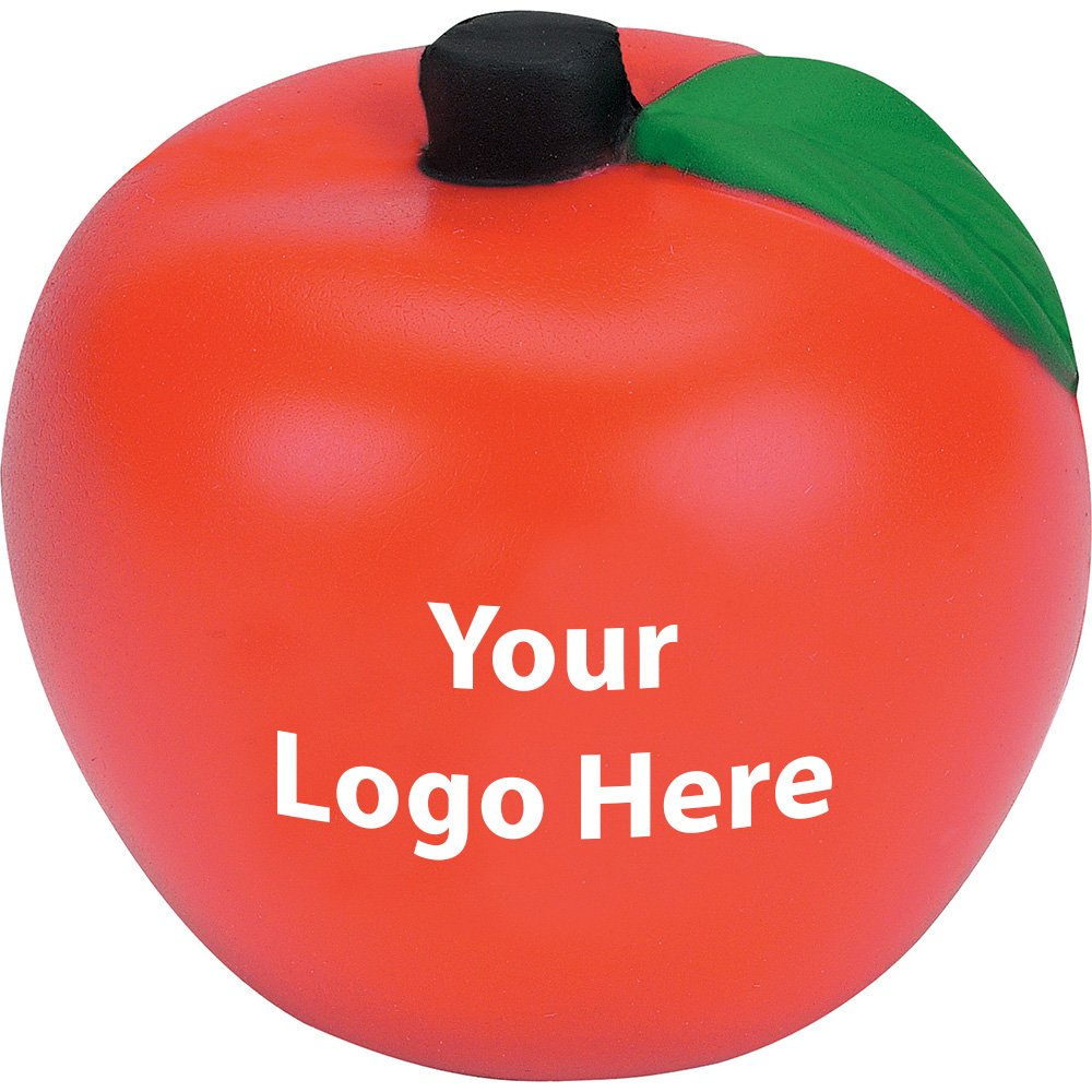 Apple Stress Reliever - 300 Quantity - $1.15 Each - PROMOTIONAL PRODUCT / BULK / BRANDED with YOUR LOGO / CUSTOMIZED