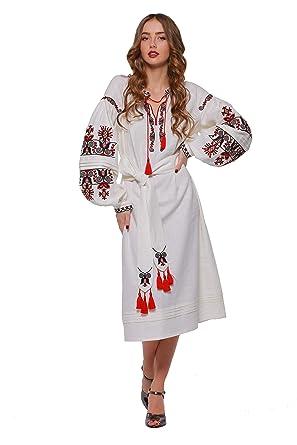 e652aa79eaefa0 2kolyory Embroidered Long Dress for Women. Vyshyvanka. Ukrainian Embroider  Dress. Bereginya (XS