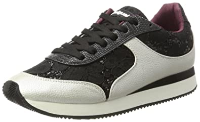 Desigual Shoes_Galaxy Black Lace, Sneakers Basses Femme, (Negro), 40 EU