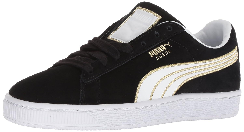 PUMA Women's Suede Varsity Sneaker B078C7SD72 9.5 M US|Puma Black-puma White