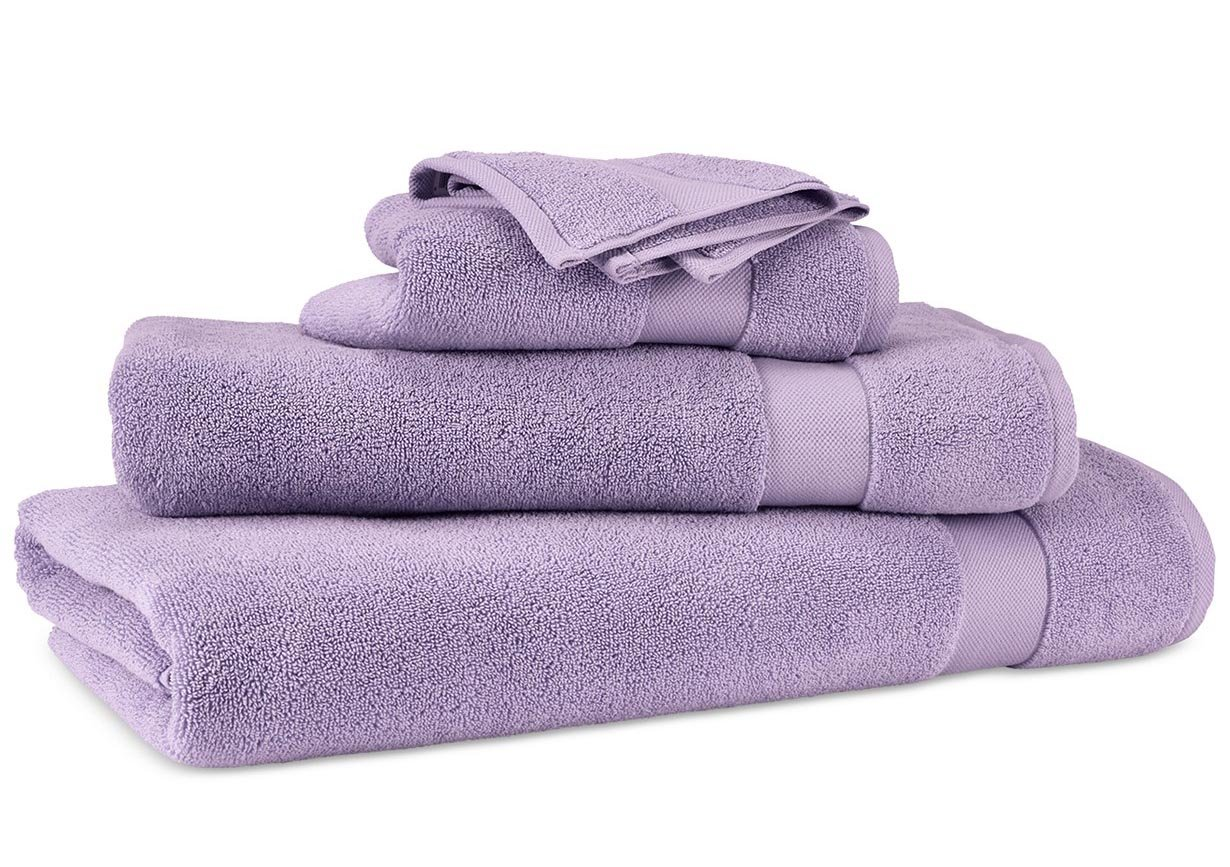 Lauren Ralph Lauren Wescott Duchess Lilac Towel 6 Piece Set Bundle - 2 Bath Towels, 2 Hand Towels, 2 Washcloths
