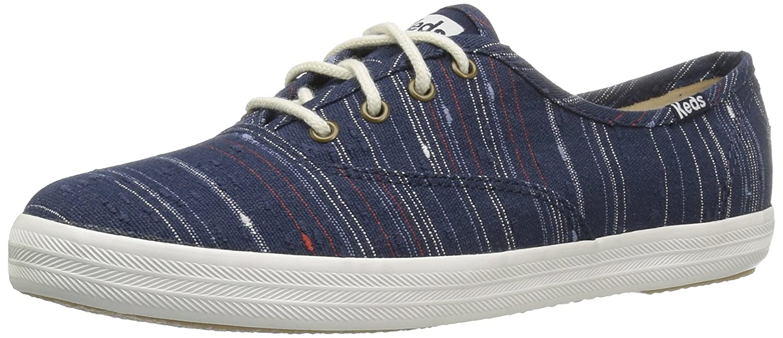 Keds Women's Champion Slub Strip Fashion Sneaker B01I5ZC2DY 8 B(M) US|Peacoat Navy