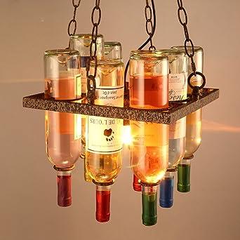 Vintage Bouteille Lampe Coloré Vin Plafond Suspension De Industriel E2beWD9IYH