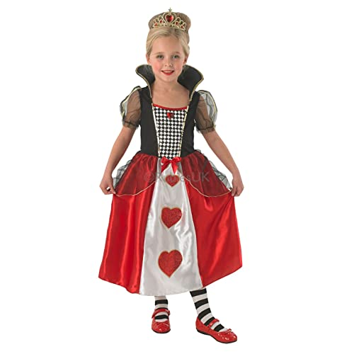 childrens queen of hearts fancy dress costume alice in wonderland outfit 3 4 yrs