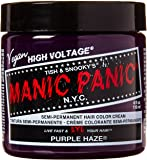 Manic Panic Semi-Permament Haircolor Purple Haze 4 Ounce Jar (118ml)