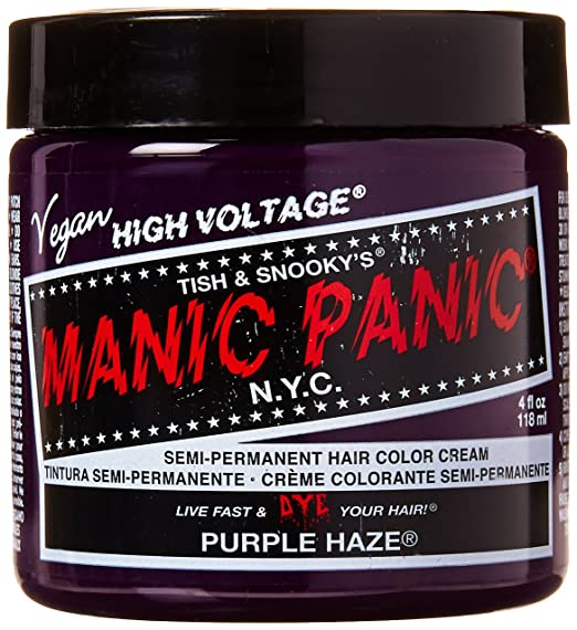 best semi-permanent purple hair dye for dark hair