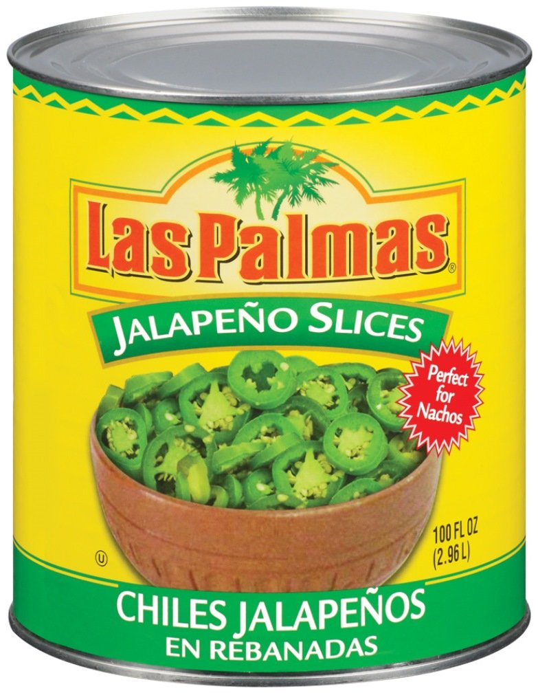 Las Palmas Jalapeno Peppers, Slices, 100 Ounce (Pack of 6)