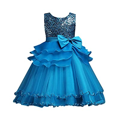 3-9 Years Old Girls,Yamally_9R Baby Girls Bowknot Princess Gown Party Wedding Tulle Dress