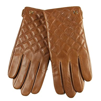 ELMA Men's Nappa Leather Thinsulate Quilted Winter Checkered ... : leather quilted gloves - Adamdwight.com