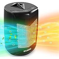 Calefactor Eléctrico -Calefactor Cerámico -Portáti, de Cerámica Personal de Aire Caliente con Oscilación Automática, Protección contra…