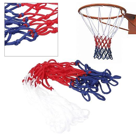 LLLucky 5mm Reemplazo de la Red de Baloncesto Borde del Objetivo Universal Malla Fuerte Durable Nylon Brained Tri-Color Basketball Hoop Net Accesorios ...