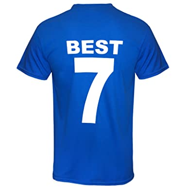 new products ae71d de06c Football Legends Best & Charlton in Manchester United 1968 Retro Kit T-Shirt