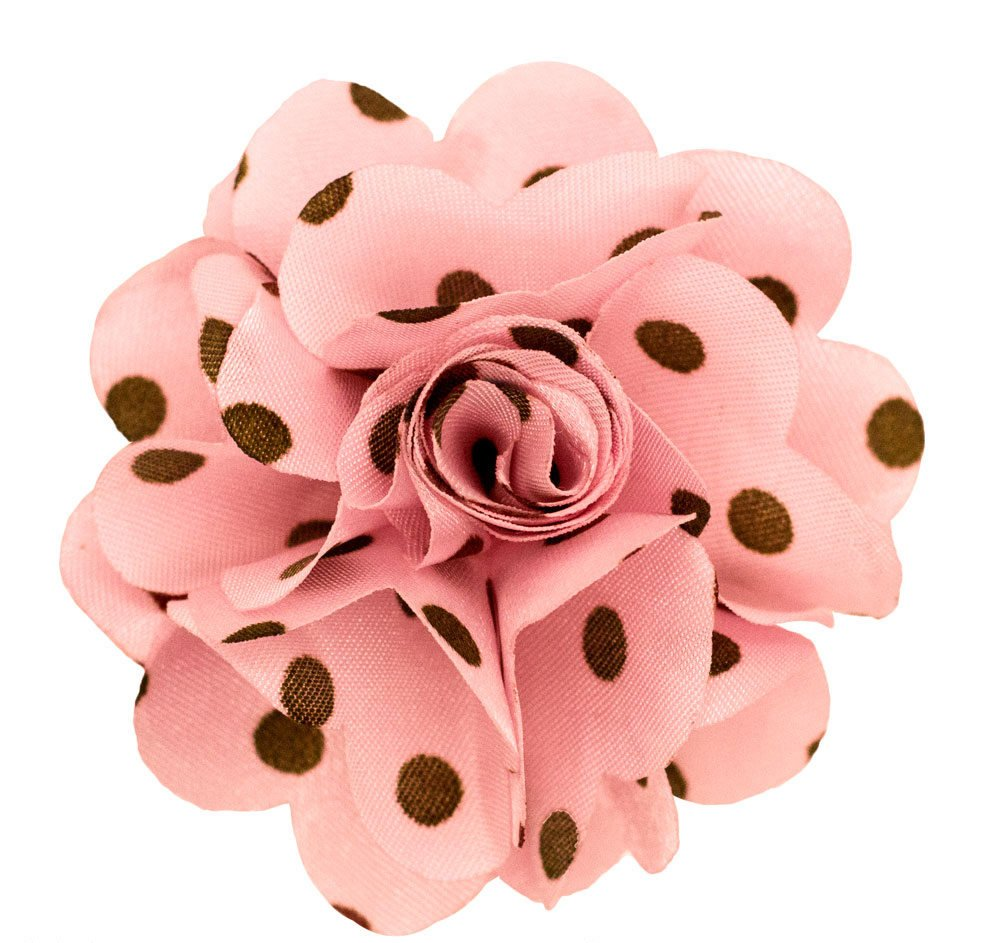 Men's Lapel Flower . Baby Pink and Brown