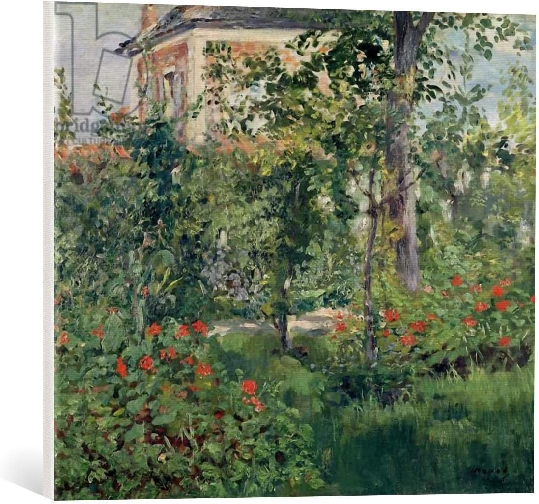 """kunst für alle Canvas Print: Edouard Manet The Garden at Bellevue 1880"""" Fine Art Print, Canvas on Stretcher, Ready to Hang Wall Picture, 23.6x19.7 inch / 60x50 cm"""
