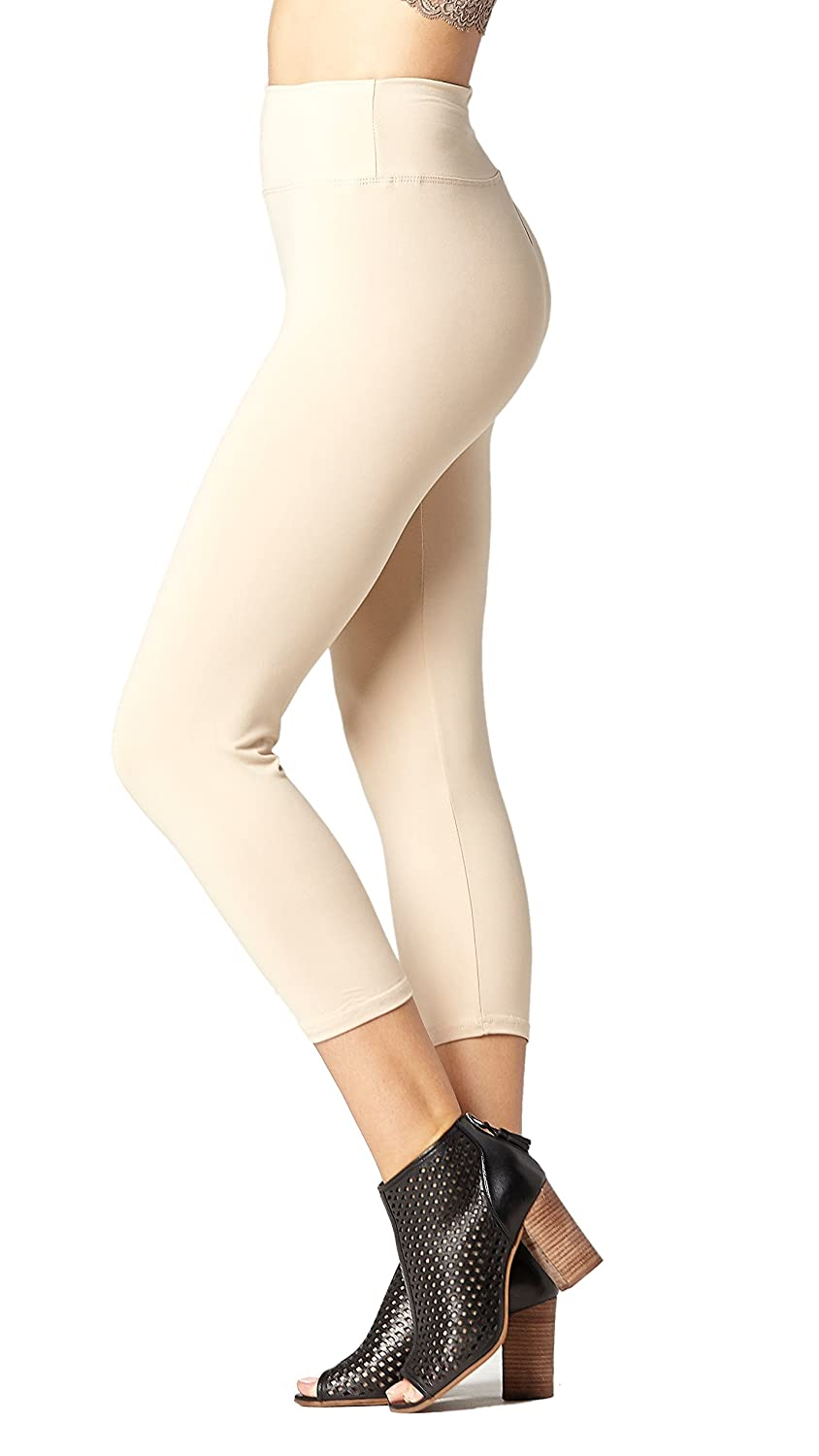 Premium Ultra Soft Yoga Waistband Leggings - Regular and Plus Size - Full and Capri Length