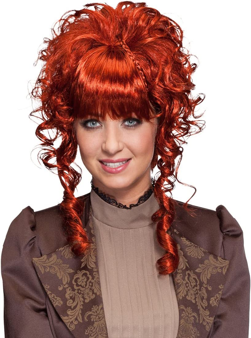 Net Toys Victorian Wig Mahogany Coloured Steampunk Periwig Gothic Hairstyle Short Hair Peruke Amazon Co Uk Toys Games