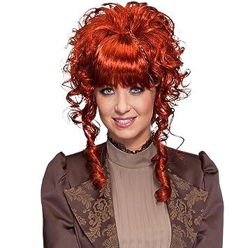 NET TOYS Victorian Wig Steampunk Periwig Gothic Hairstyle Short Hair Peruke brown