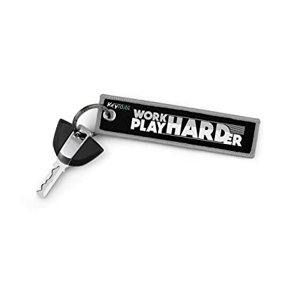 KEYTAILS Keychains, Premium Quality Key Tag for Snowmobile, Sled [Work Hard Play Harder]: Automotive [5Bkhe2014633]
