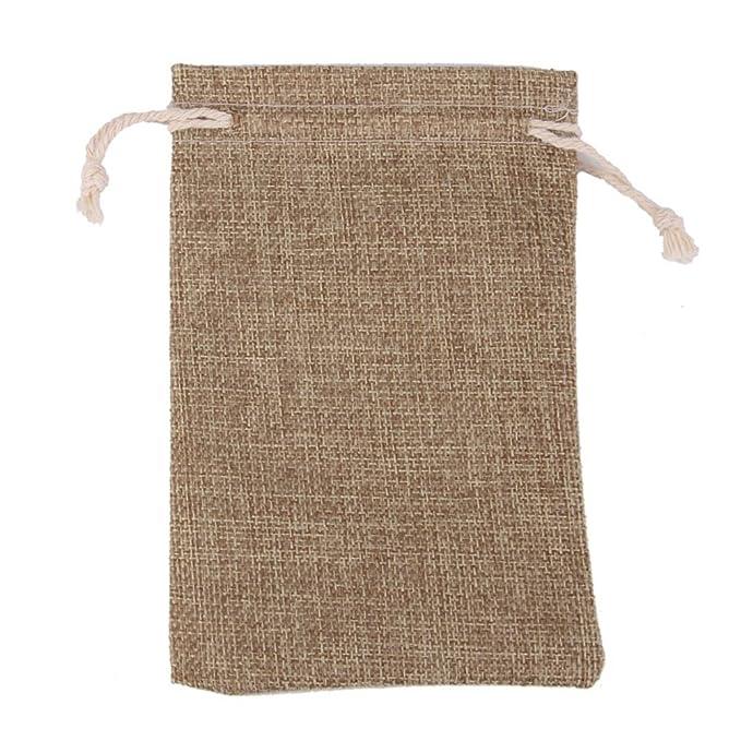 ROSENICE Bolsa de Organza Bolsitas de tela de saco bolsas de sacos 10pcs (lino)
